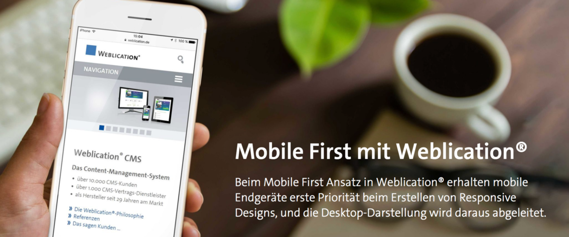 Mobile First mit Weblication